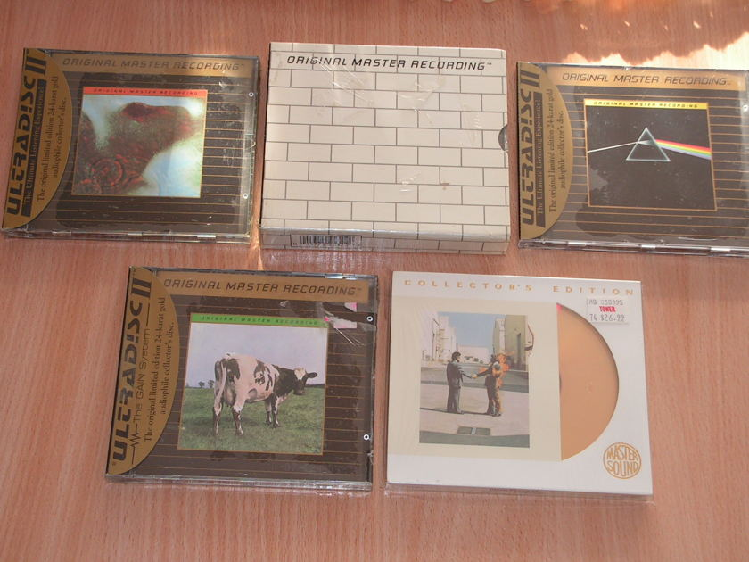 Pink Floyd - 5 titles - 24 karat gold discs MFSL, Mastersound 24 kt gold