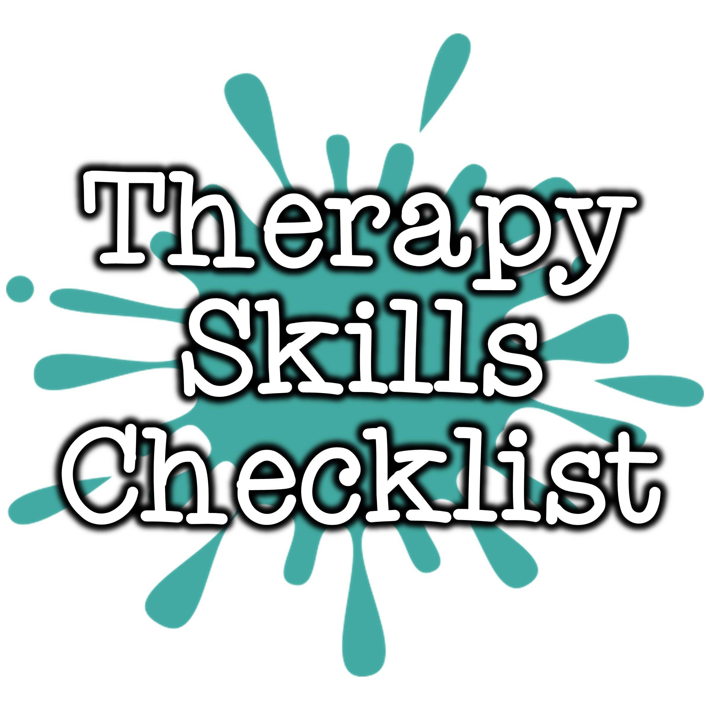 Speech Therapy Skills Checklist for Elementary SLPs