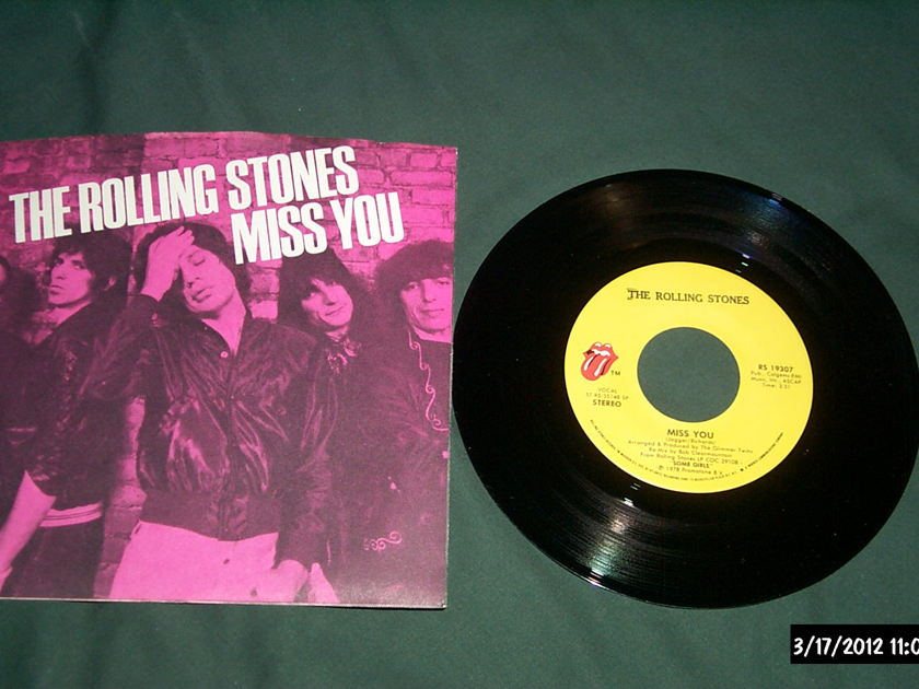 The Rolling Stones - Miss You First Pressing 45 With Sleeve