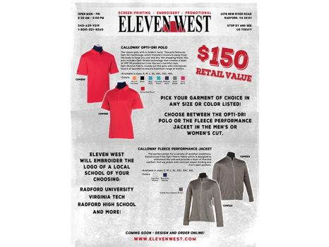 Eleven West Embroidery Package