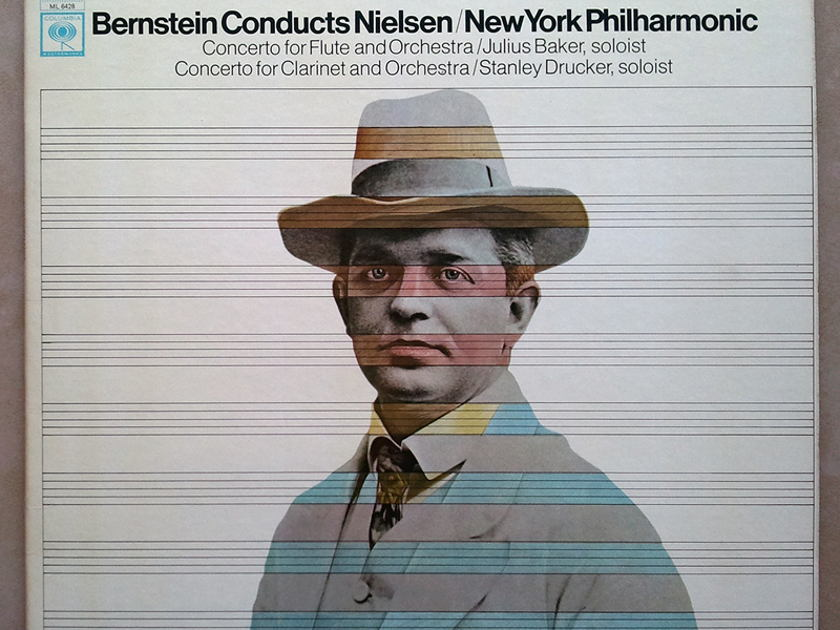 Columbia 2-eye/Bernstein/Nielsen - Concerto for Flute, Concerto for Clarinet / NM