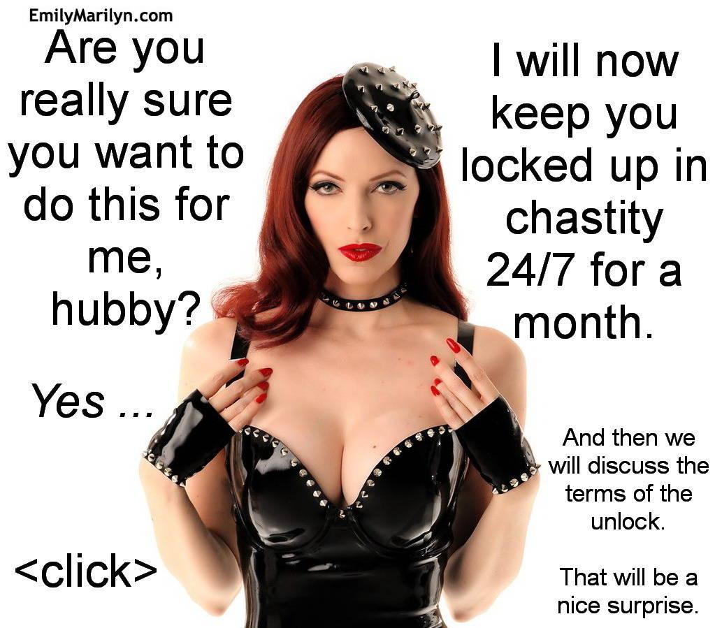 Chastity caption 73
