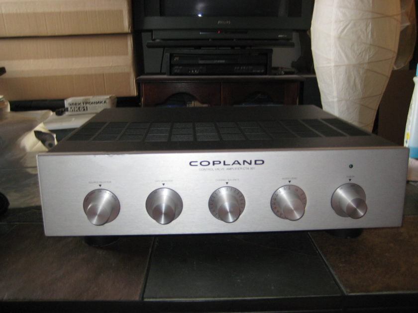 Copland CTA-301 tube pre amp, new tubes,schematics,brochure,great shape sounds awesome