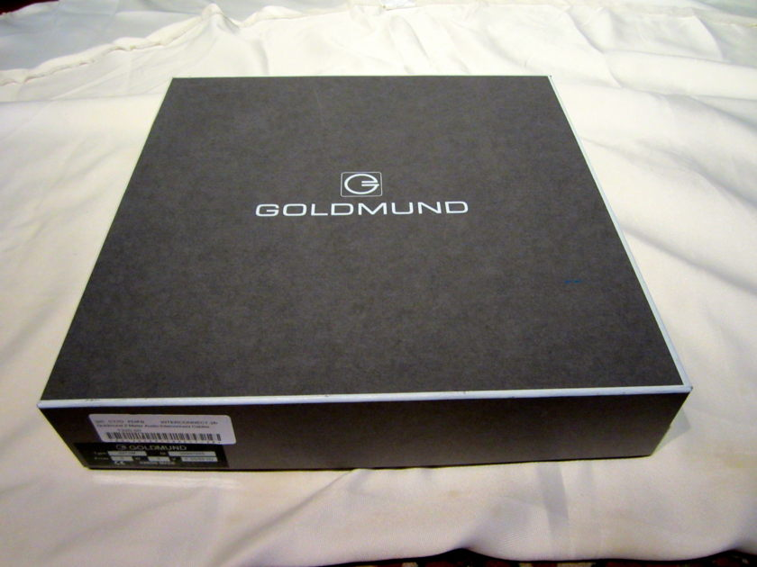 Goldmund 2 meter interconnect cable rca new in the box