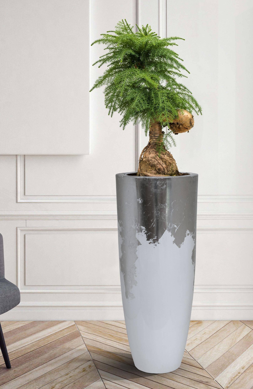 Finestgreen - Luxe Lite Weiß Silber Vase