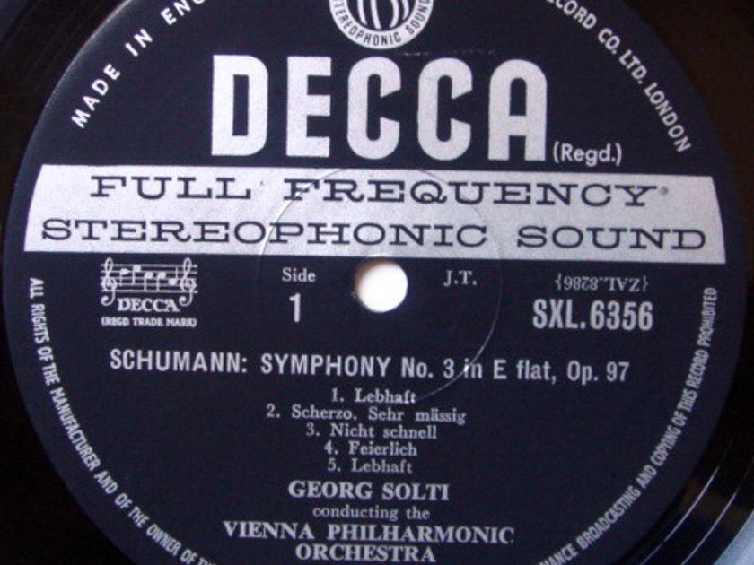 DECCA SXL-WB-ED3 / SOLTI, - Schumann Symphonies No.3 Rhenish & No.4, NM!