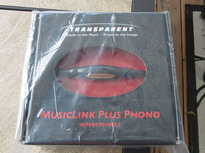 Transparent Audio Transparent Plus MM2 Phono DIN to RCA NEW IN BOX, REDUCED!!