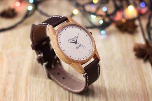 Деревянные часы, мужские наручные часы, бук