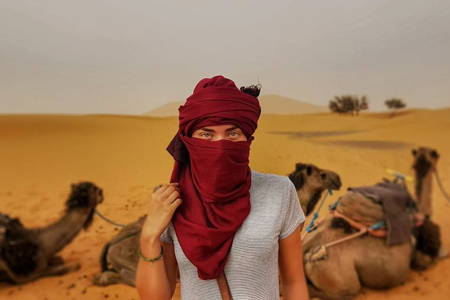 One night in the desert and camel riding