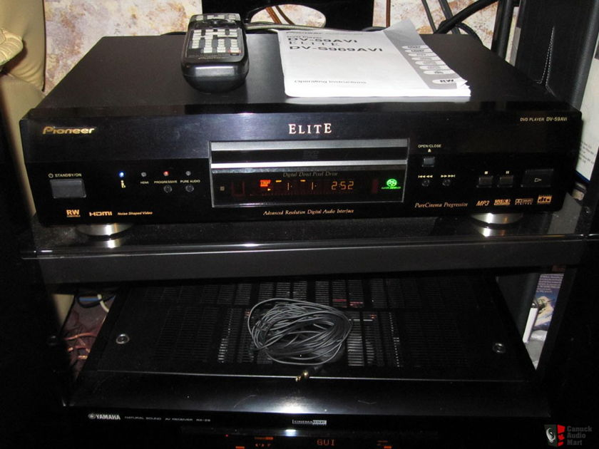 PIONEER ELITE DV-59AVi SACD/CD/DVD PLAYER! FULLY LOADED! BEAUTIFUL AUDIO AND VIDEO! RETAIL=$1600!
