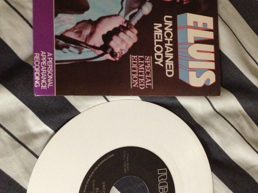 Elvis Presley - Unchained Melody White Vinyl LTD Edition 45 NM