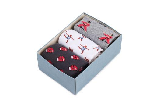 """Носки Запорожец набор из 3-пар мужских носочков в коробочке """"Спортивный"""""""