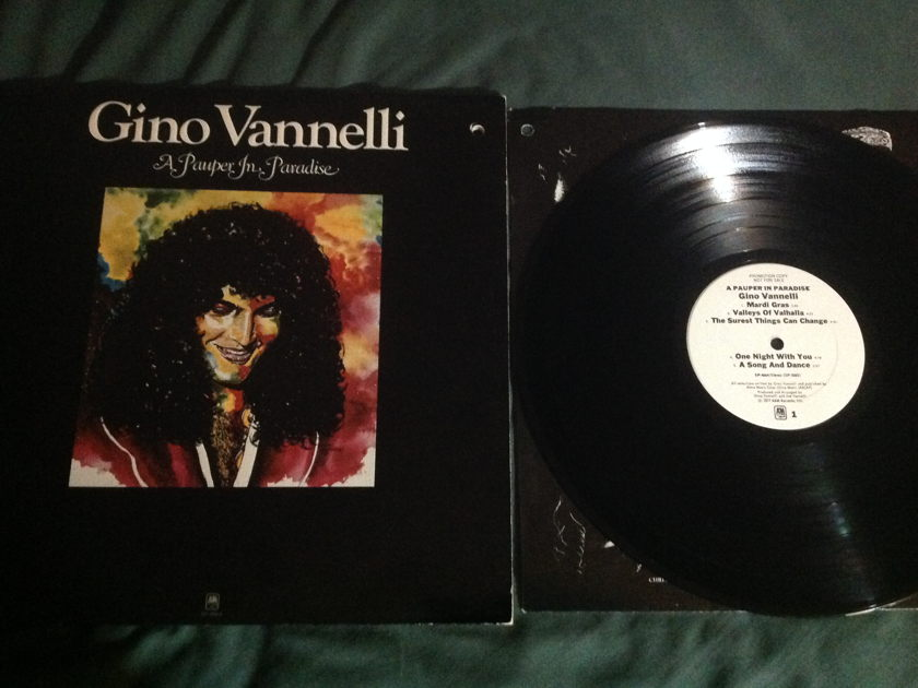 Gino Vannelli - A Pauper In Paradise White Label Promo LP NM