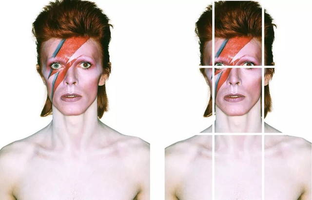 David Bowie's Aladdin Sane cover photo is shot in the rule of thirds