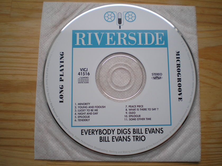 Bill Evans - Everybody Digs Bill Evans Japan mini-lp