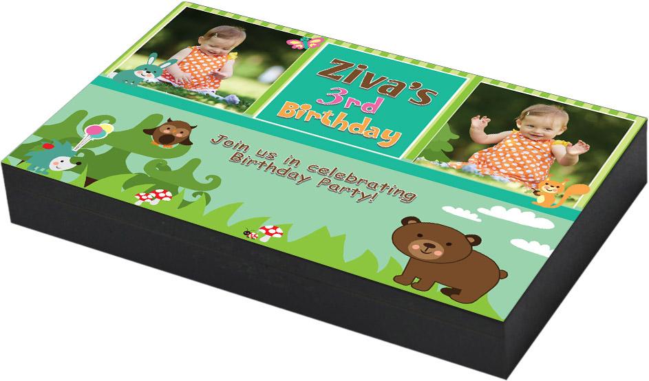 Personalised theme birthday invitation