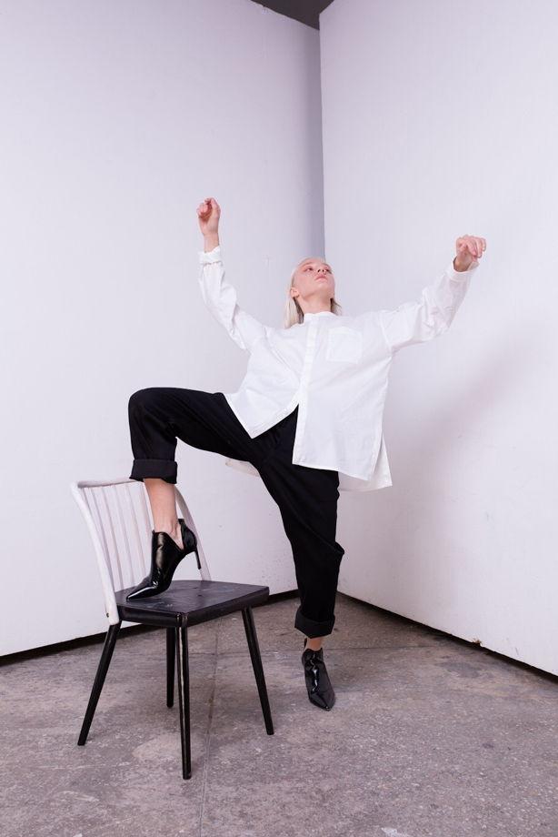 Белая рубашка - блузка  «на все случаи жизни»