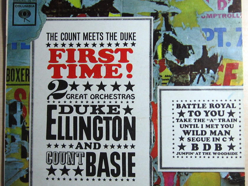 Duke Ellington And Count Basie - ‎First Time!  The Count Meets The Duke  - Columbia ‎ CS 8515 Reissue