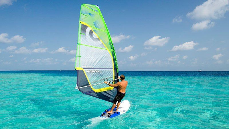 Windsurfing in the Maldives
