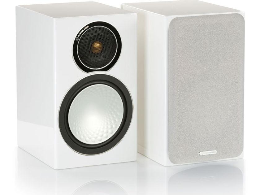 Monitor Audio  Silver 1 Bookshelf Speakers Gloss White NEW w Free Shipping