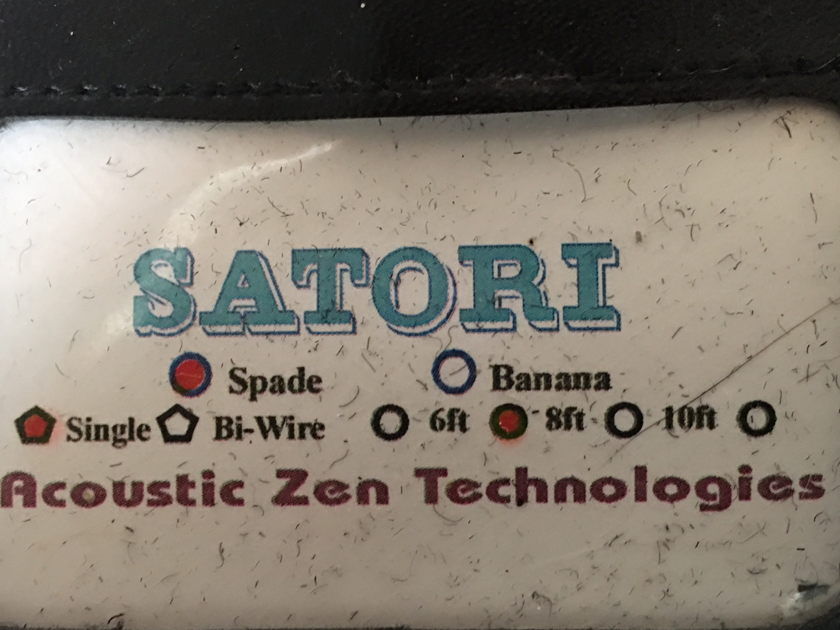 Acoustic Zen Satori 8ft pair Audiophile speaker cable