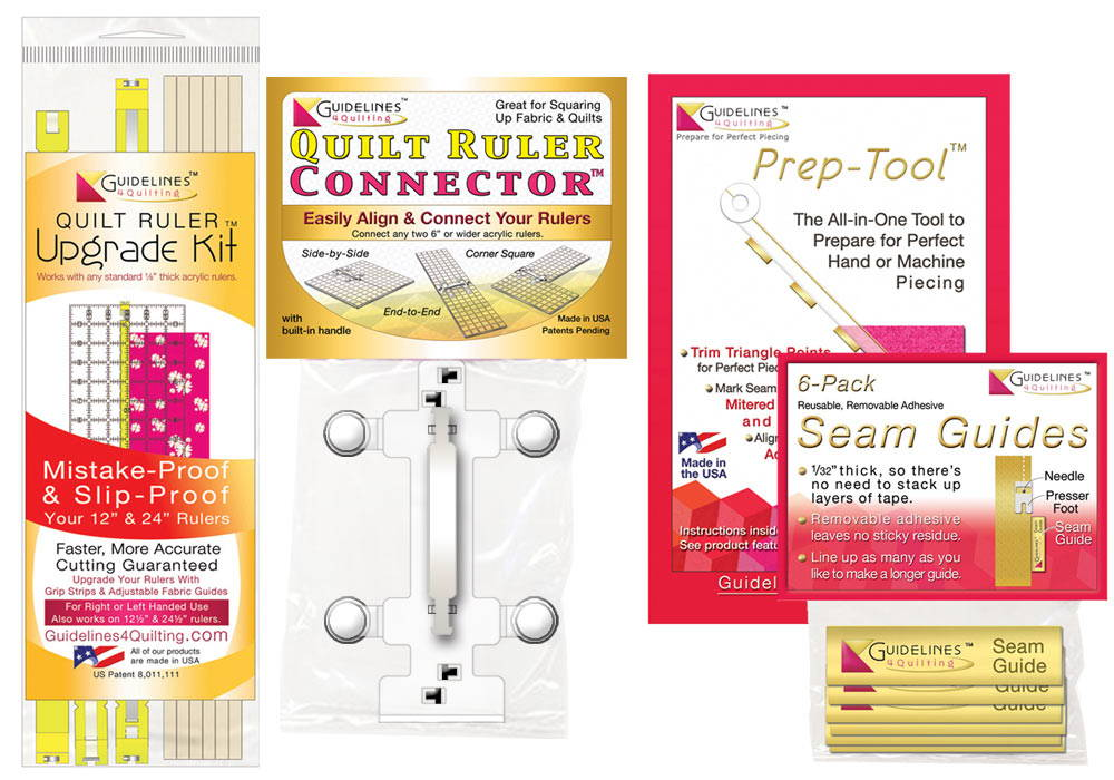 Perfect4Pattern Set for regular acrylic rulers - Guidelines4Quilting