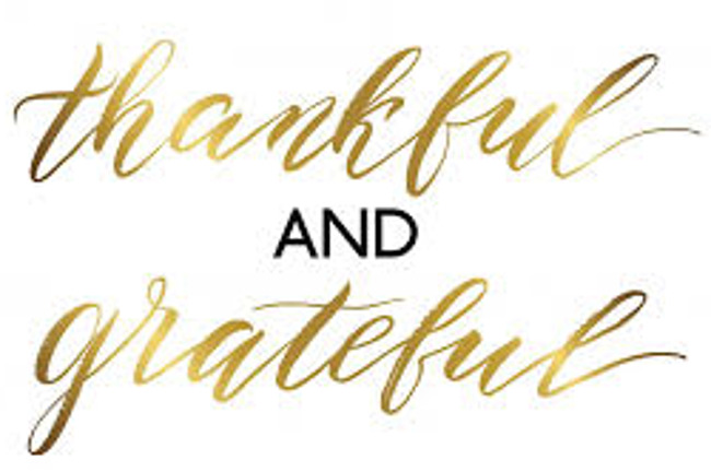 thankful and greatful