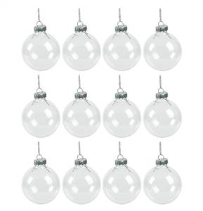 Clear Christmas Ornaments