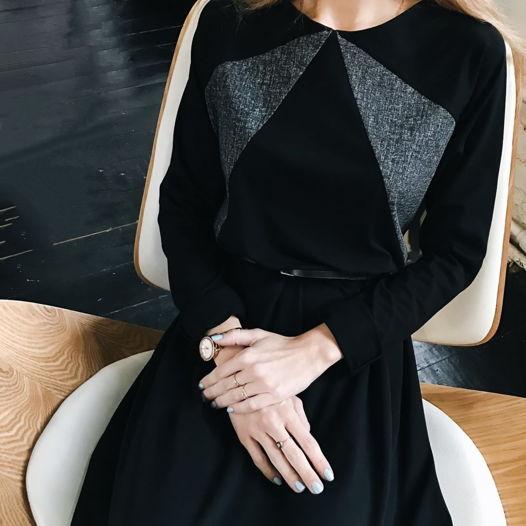 Платье Черная Геометрия