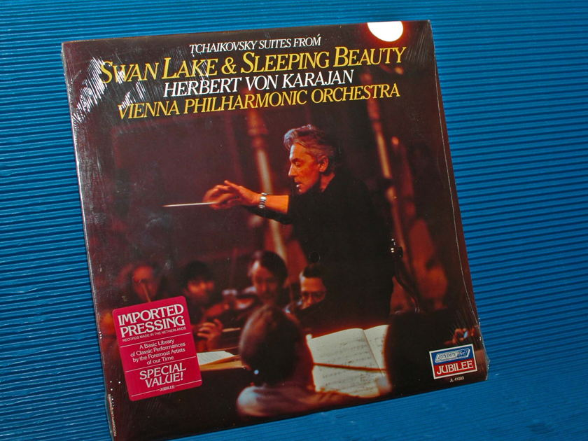 "TCHAIKOVSKY / Von Karajan  - ""Swan Lake & Sleeping Beauty"" -  London 1981 SEALED"