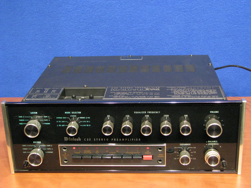 McIntosh C32 Preamplifier with SCR-2 speaker controller, Very good condition, includes manuals and NEW McIntosh Factory double box Checked by Factory Service center