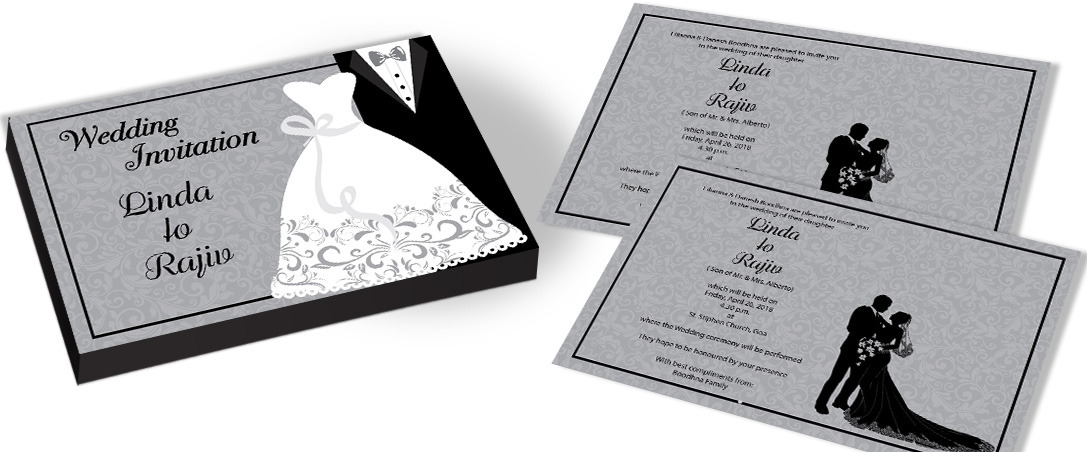 Modern Indian Christian Wedding Invitation