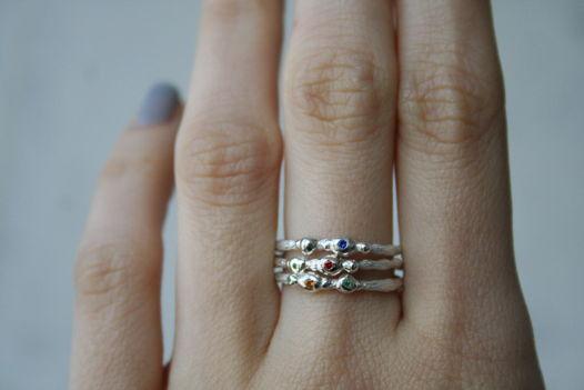кольца из серебра с фианитами