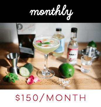 Monthly Modern Cocktail Subscription