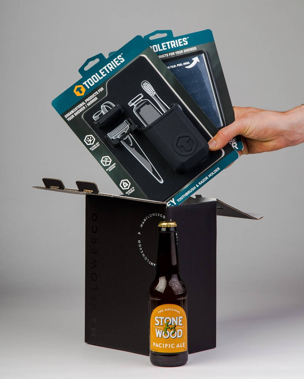 Toast to everyday occasions with the Tooletries Gift Pack, one of the beer gifts in Manflower Co's drinkable range.