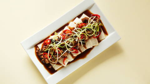 Steamed Tofu with Minced Meat