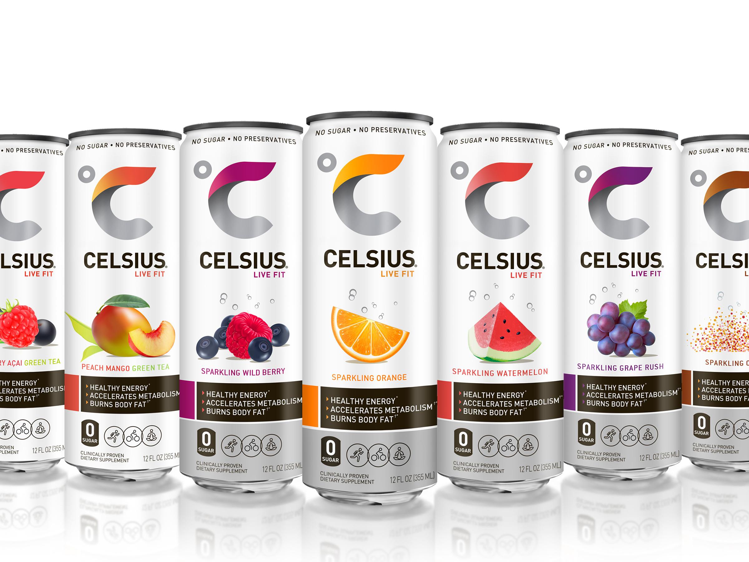Celsius Healthy Energy Beverage   Dieline - Design, Branding & Packaging  Inspiration