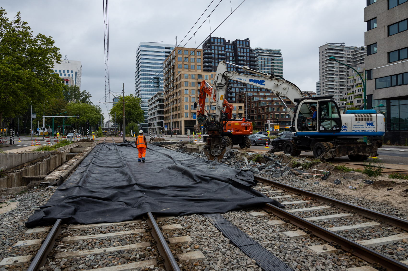In Buitenveldert de laatste benodigde sloopwerkzaamheden wat de Amstelveenlijn betreft.