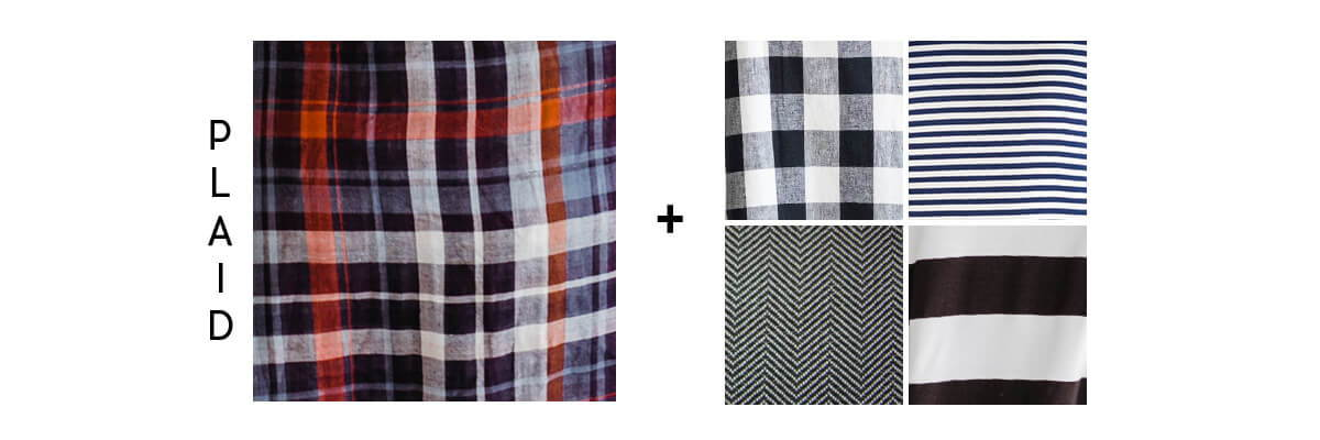 pattern mixing for beginners plaid