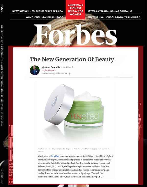 Forbes Magazine calls VENeffect The New Generation of Beauty