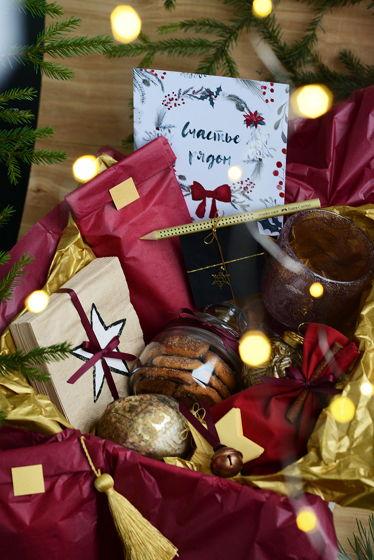 """Рождественский подарочный набор """"бордовый"""""""