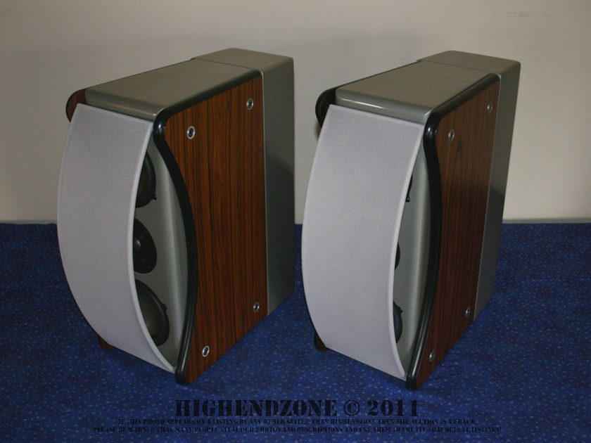 $8,700 Revel Ultima Gem Speakers in Rosewood and Grey with Stands