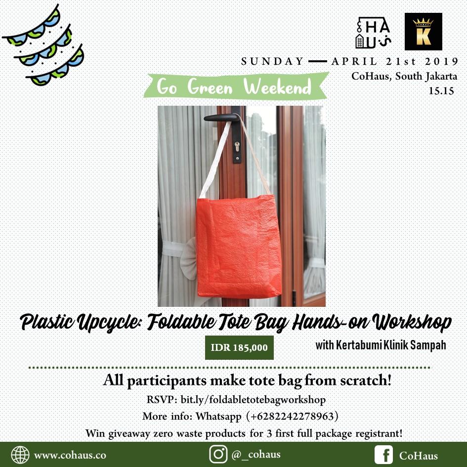 Foldable Tote Bag Workshop