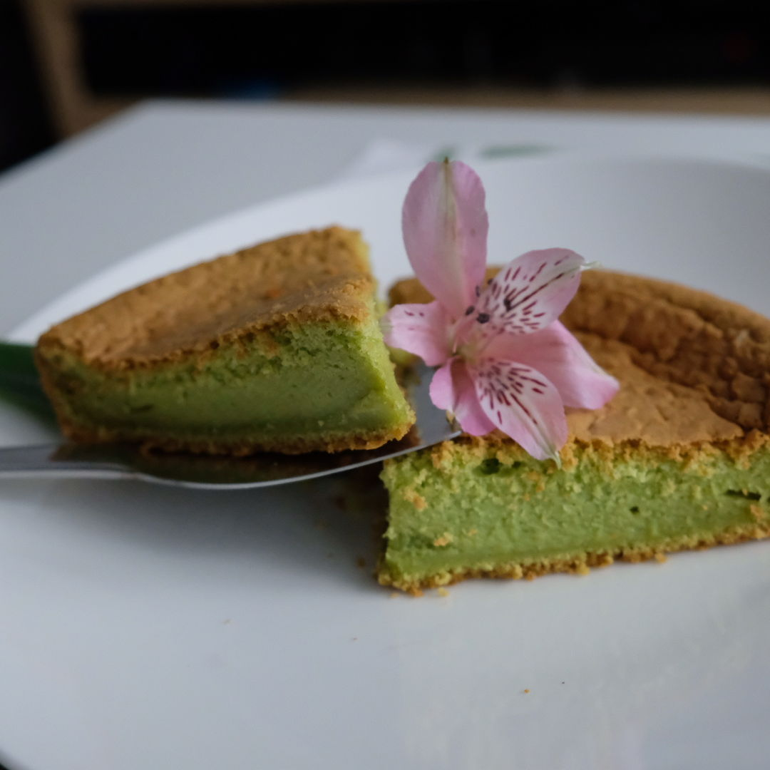 My first pandan cake.  Done with pandan leaves and coconut oil. Next time i will try to make it more fluffy and soft.