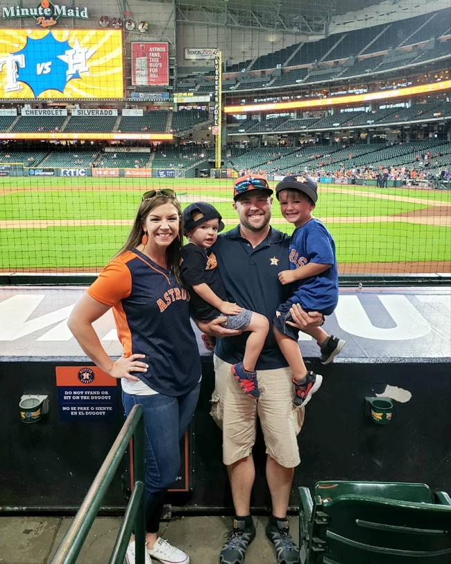 LeBlanc Astro's Game Family Photo