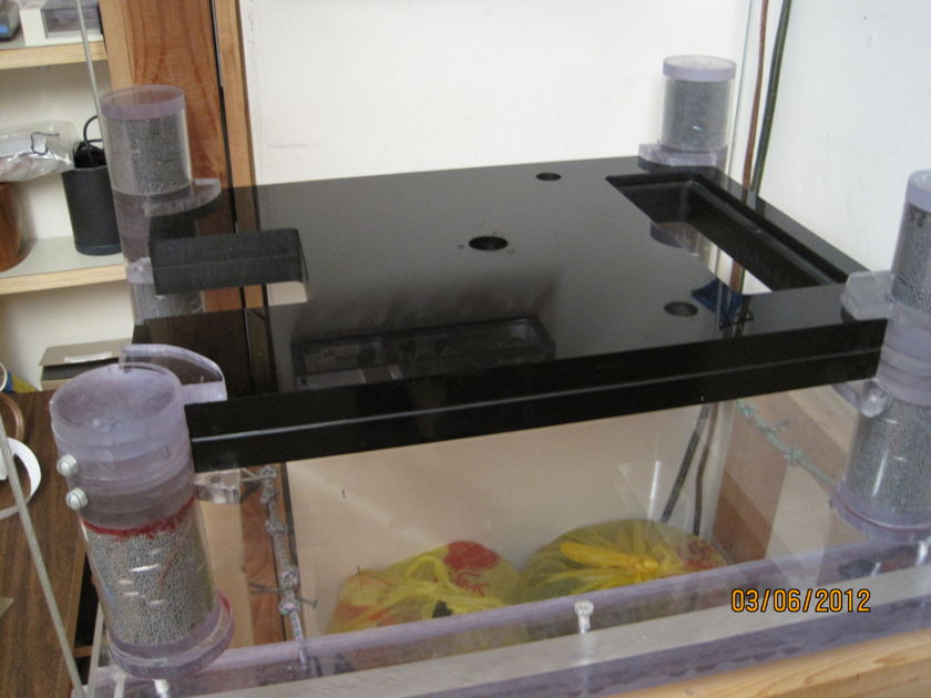 vpi plinth with custom feet and suspended stand for ultimate isolation