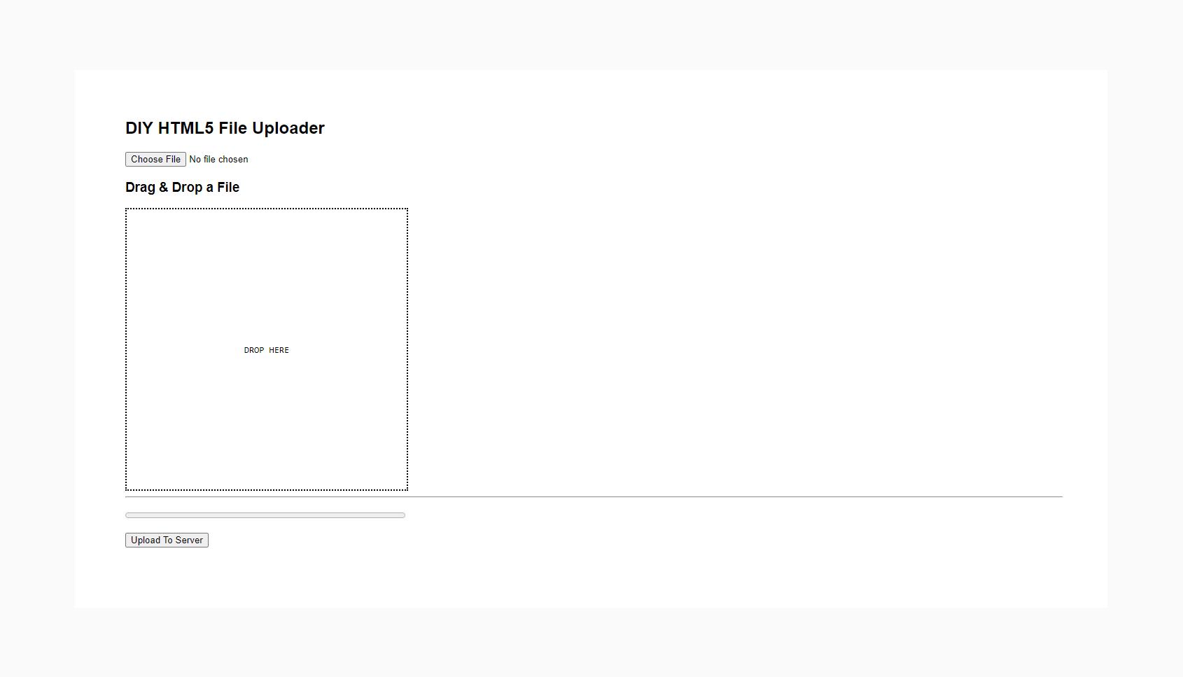 HTML5 File Uploader