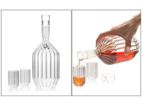 Margot Decanter and Dearborn Liqueur Shot Glasses