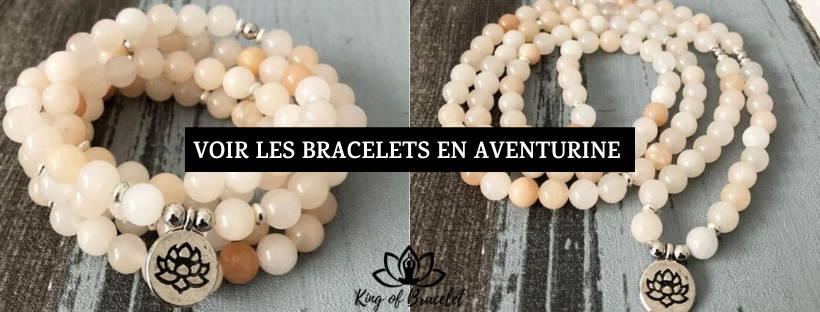 Bracelet en Aventurine Pêche - King of Bracelet