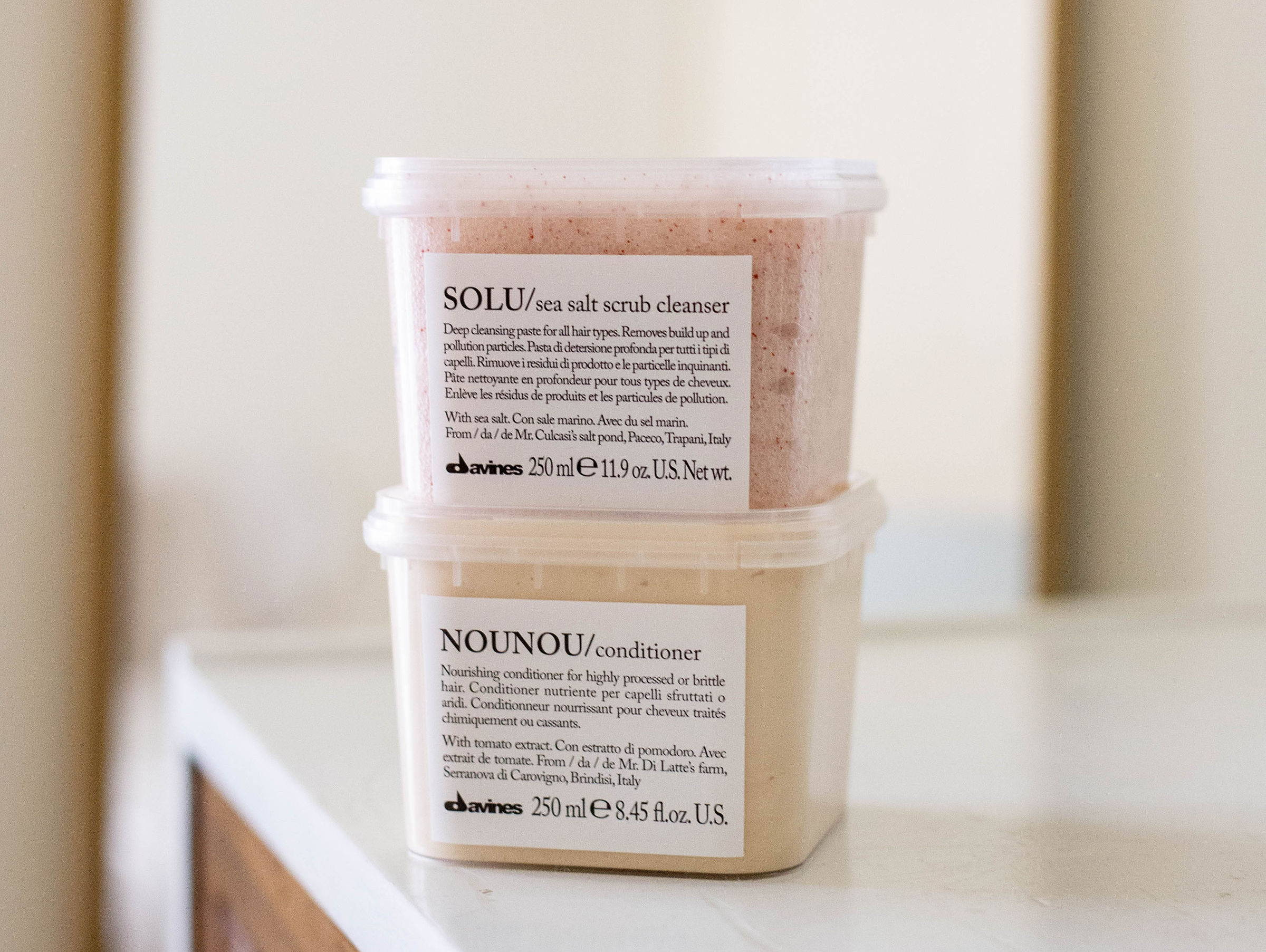SOLU Sea Salt Scrub CLeanser Davines